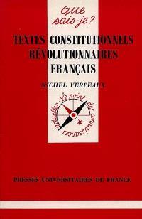 Textes constitutionnels révolutionnaires français