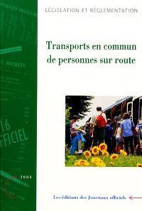 Transports en commun de personnes sur route