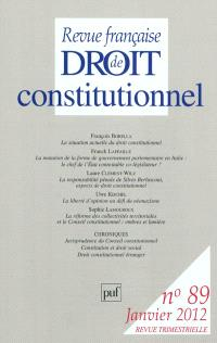 Revue française de droit constitutionnel. n° 89