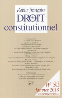 Revue française de droit constitutionnel. n° 93