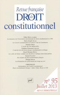 Revue française de droit constitutionnel. n° 95