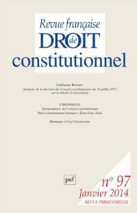 Revue française de droit constitutionnel. n° 97