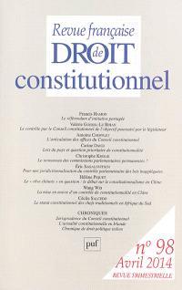Revue française de droit constitutionnel. n° 98