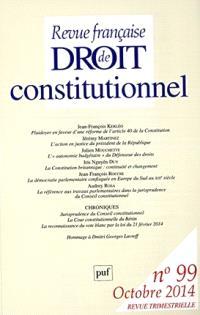 Revue française de droit constitutionnel. n° 99