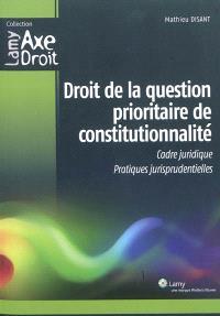 Droit de la question prioritaire de constitutionnalité : cadre juridique, pratiques jurisprudentielles