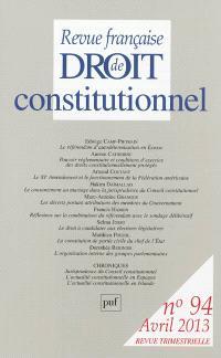 Revue française de droit constitutionnel. n° 94