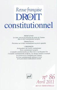 Revue française de droit constitutionnel. n° 86