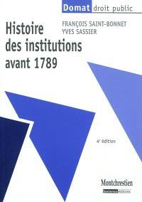 Histoire des institutions avant 1789