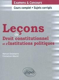 Leçons de droit constitutionnel et d'institutions politiques