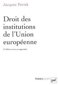 Droit des institutions de l'Union européenne