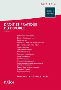 Droit et pratique du divorce 2015-2016