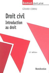 Droit civil : introduction au droit