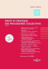 Droit et pratique des procédures collectives 2015-2016