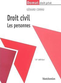 Droit civil. Volume 1, Les personnes