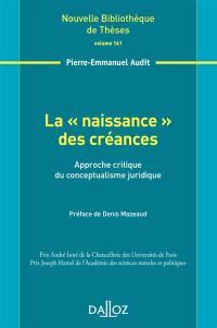 La naissance des créances : approche critique du conceptualisme juridique