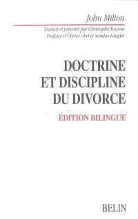 Doctrine et discipline du divorce