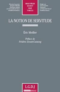La notion de servitude