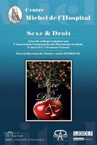 Sexe et droit : actes du colloque du 21 mai 2013, Clermont-Ferrand