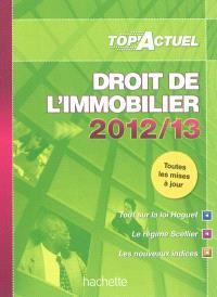 Droit de l'immobilier : 2012-13