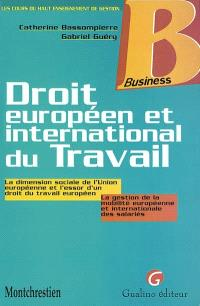 Droit européen et international du travail