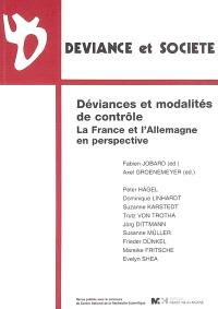 Déviance et société, Déviances et modalités de contrôle : la France et l'Allemagne en perspective