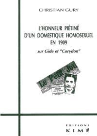L'honneur piétiné d'un domestique homosexuel en 1909 : sur Gide et Corydon