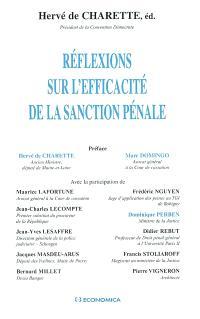 Réflexions sur l'efficacité de la sanction pénale