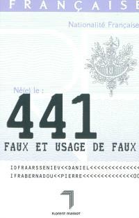 441, faux et usage de faux