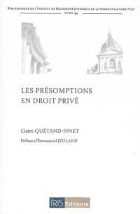 Les présomptions en droit privé