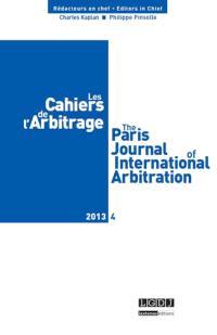 Cahiers de l'arbitrage (Les). n° 4 (2013)