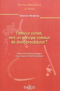L'amicus curiae, vers un principe commun de droit procédural ?