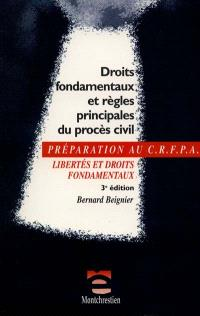 Les droits fondamentaux dans le procès civil : libertés et droits fondamentaux, examen d'entrée au CRFPA