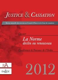 Justice & cassation. n° 2012
