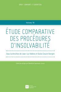 Etude comparative des procédures d'insolvabilité