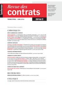 Revue des contrats. n° 2 (2016)