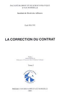 La correction du contrat