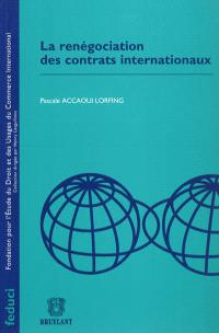 La renégociation des contrats internationaux