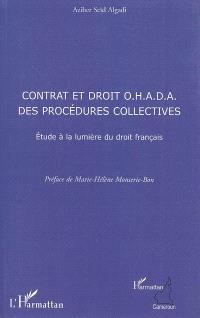 Contrats et droit OHADA des procédures collectives