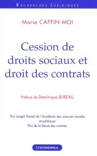 Cession de droits sociaux et droit des contrats