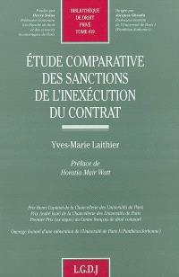 Etude comparative des sanctions de l'inexécution du contrat