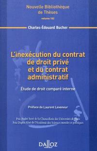 L'inexécution du contrat de droit privé et du contrat administratif : étude de droit comparé interne