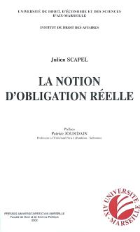 La notion d'obligation réelle