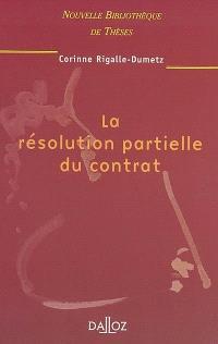 La résolution partielle du contrat