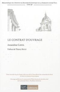 Le contrat d'ouvrage