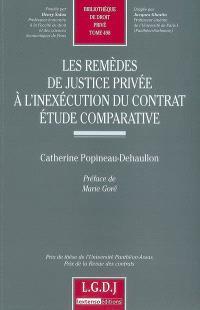 Les remèdes de justice privée à l'inexécution du contrat : étude comparative
