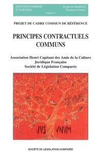 Principes contractuels communs : projet de cadre commun de référence