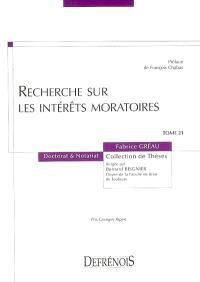 Recherche sur les intérêts moratoires
