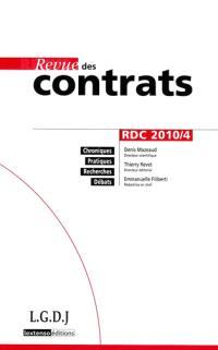Revue des contrats. n° 4 (2010)