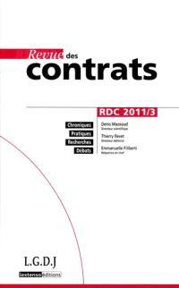 Revue des contrats. n° 2011-3