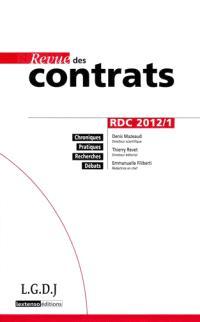 Revue des contrats. n° 1 (2012)